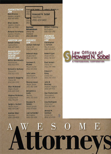 Howard Sobel Awesome Attorneys List